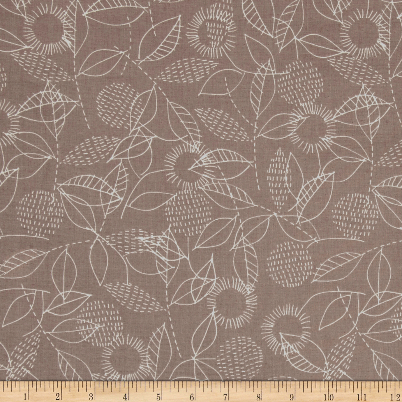 Cloud 9 Organic Double Gauze Threads Backstitch Gray Fabric by Cloud 9 in USA