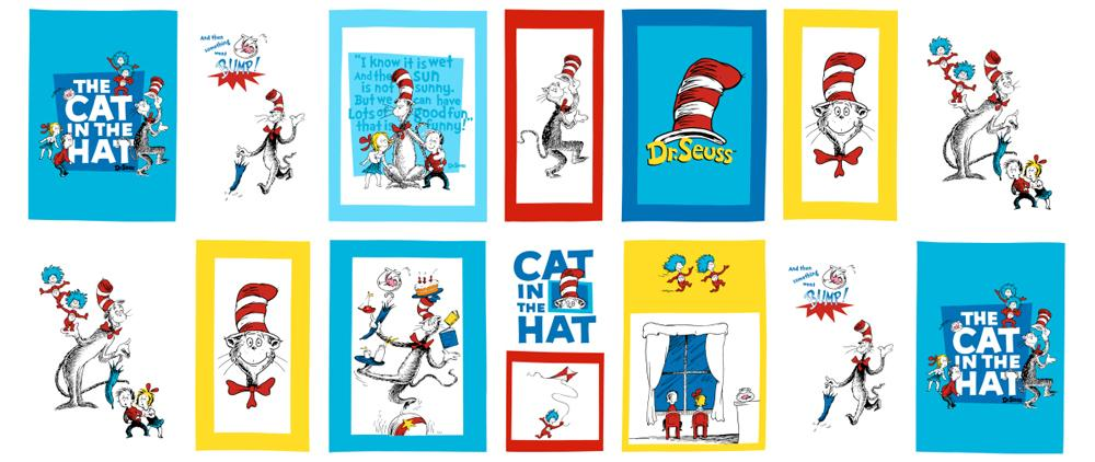 The Cat In The Hat Minky Cuddle Story Time Panel Multi