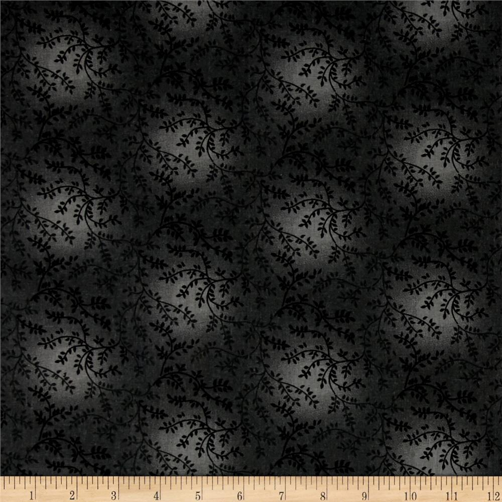 "108"" Wide Quilt Back Tonal Vineyard Charcoal"