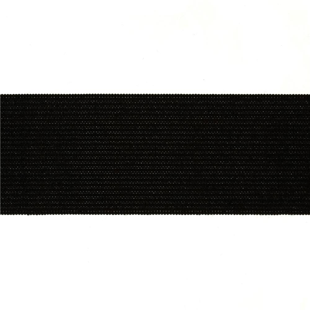 "1-1/2"" Heavy Stretch Waistband Elastic Black"