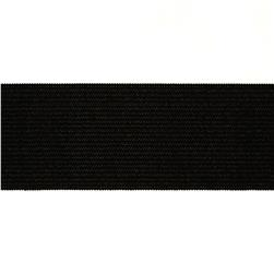 "1-1/2""X15 Heavy Stretch Waistband Elastic Black"
