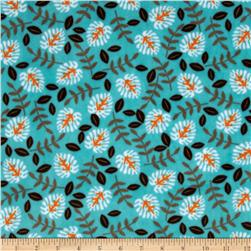 Minky Cuddle Jungle Palm Brown/Topaz Fabric