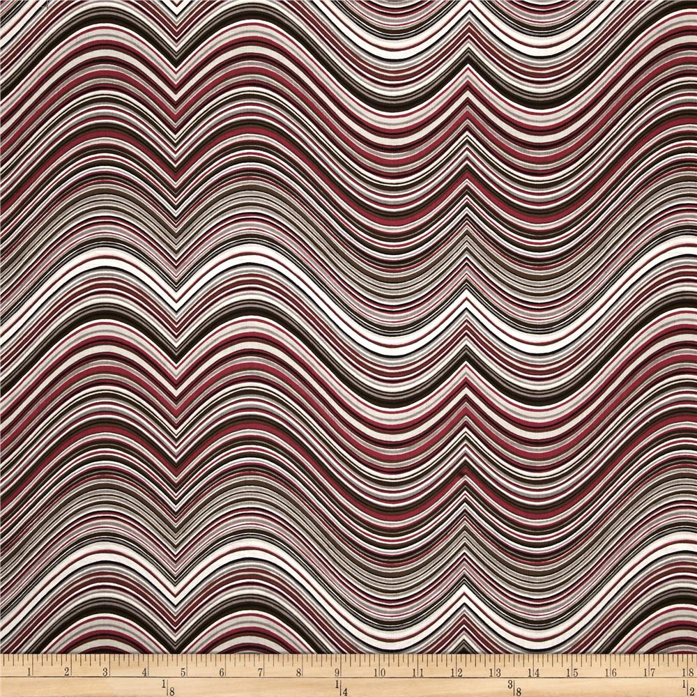 Kaufman Vantage Point Contour Stripe Taupe