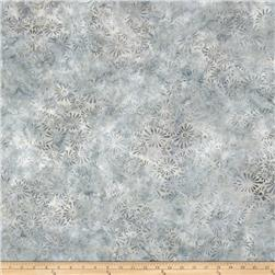 Batavian Batiks Flower Field Gray