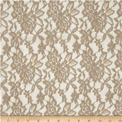 Floral Stretch Lace Taupe