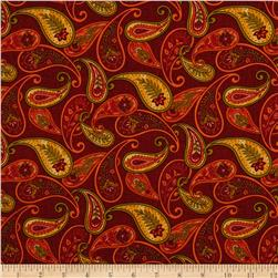 Autumn Abundance Paisley Red