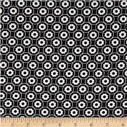 Kanvas Tiffany Collection Flower Gems Black Fabric