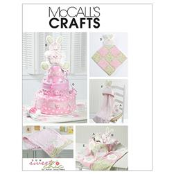 McCall's Toy, Burp Cloth, Blanket and Diaper Cake