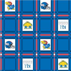 Collegiate Tailgate Vinyl Tablecloth University of Kansas Crimson/Blue