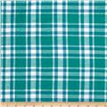 Hudson Bay Madras Plaid Teal/White/Royal