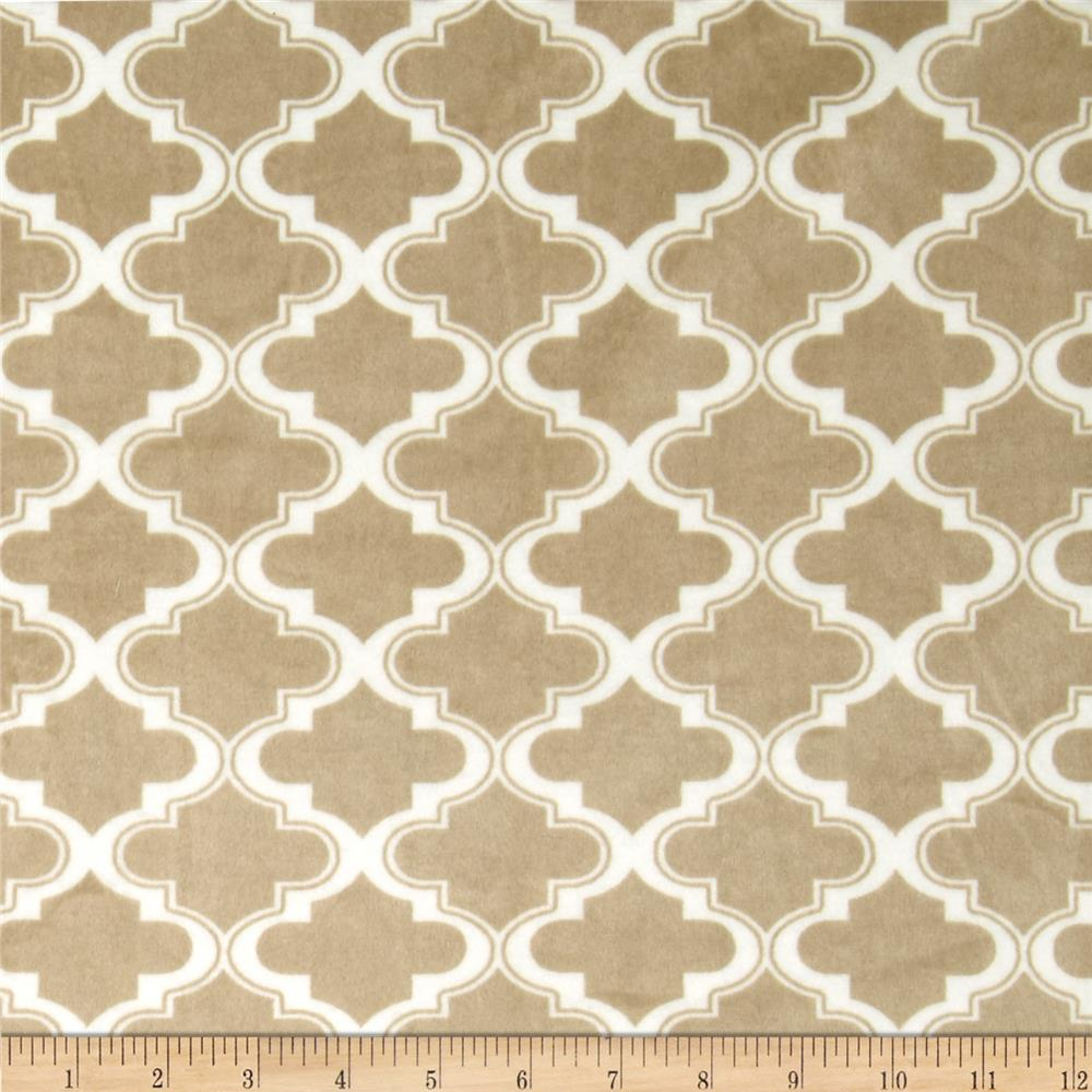 Minky Moroccan Tile Light Mocha