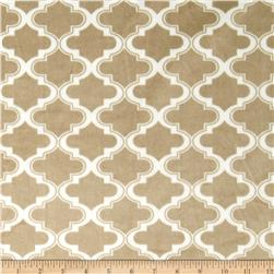 Minky Moroccan Tile Light Mocha Fabric