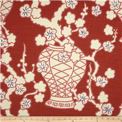 Home Accents Cachepot Slub Rouge Fabric