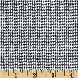 Kaufman Shetland Flannel Houndstooth Black Fabric