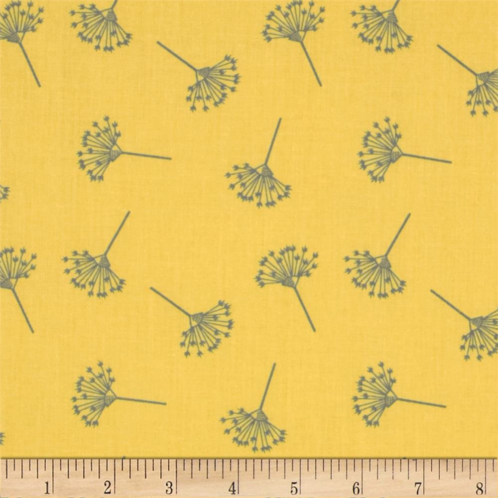 Moda Little Things Organic Queen Anne's Lace Canary