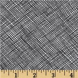 108'' Wide Quilt Backing Widescreen Grid Black Fabric