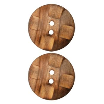 Genuine Wood Button 7/8'' Woods Hole Burnt Wood