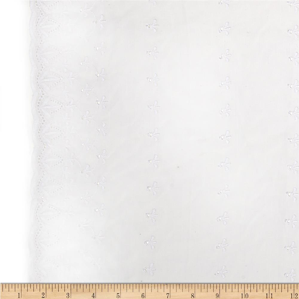 Imperial Eyelet Flounce 3'' Border Bloom White