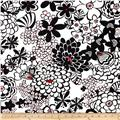 Stachi Floral Black/White