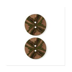 Organic Elements Wood Button 1'' Green
