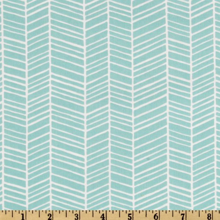 Joel dewberry modern meadow herringbone pond discount - Modern fabrics for curtains ...