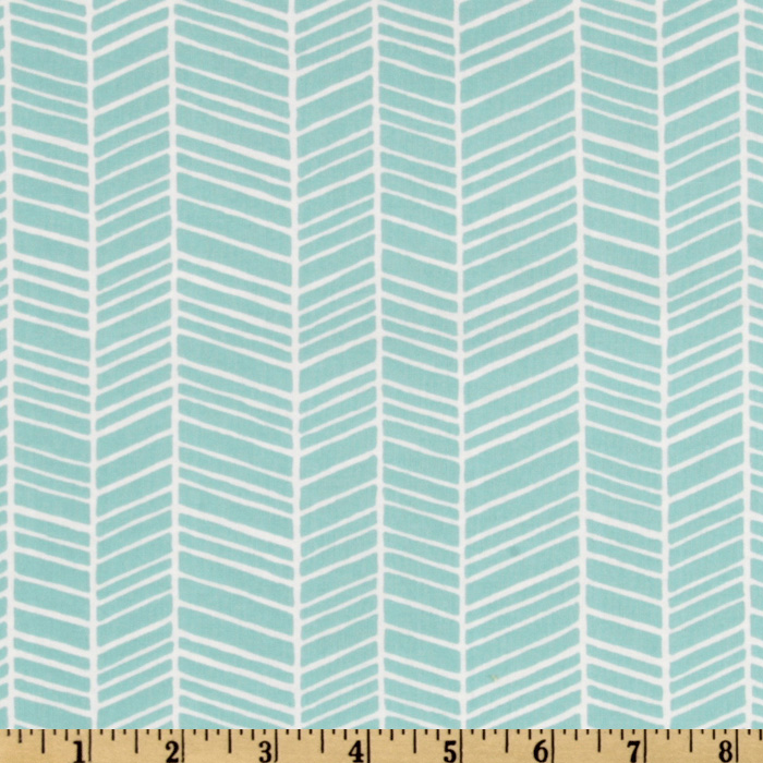 Modern Meadow Herringbone Pond Fabric