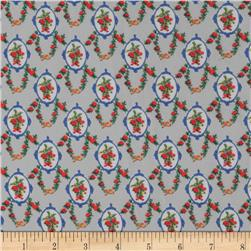 Chiffon Print Tiny Flowers Grey/Pink