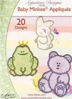 OESD Machine Embroidery CD Baby Minkee Appliques