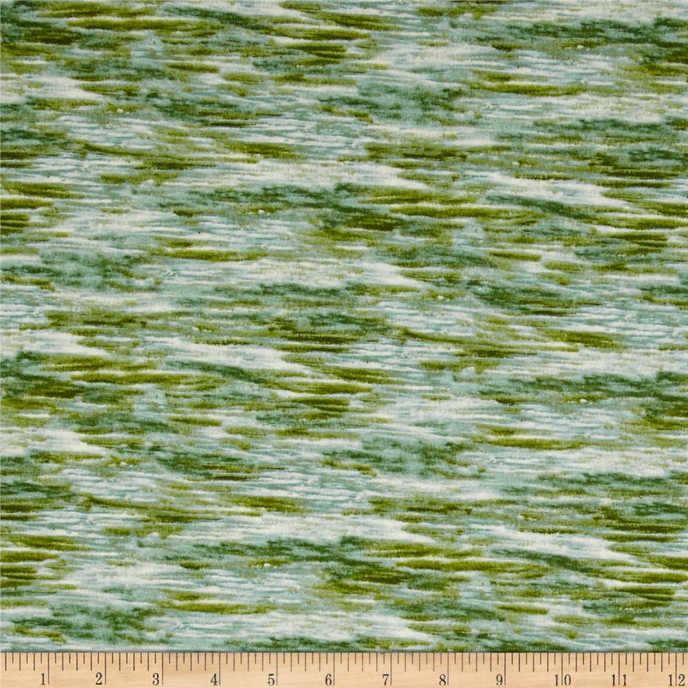 Bear Country Water Texture Green