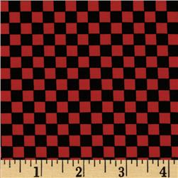 Loralie Sew Creative Checker Board Red/Black
