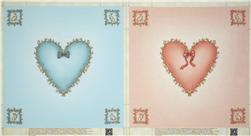 Ninth & Vine Heart Panel Blue/Pink
