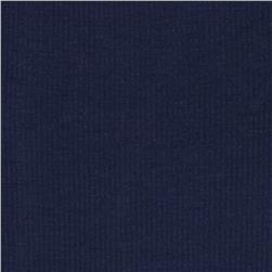 Basic Cotton Rib Knit Navy Blue