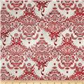 Holiday Flourish Metallic Damask Silver