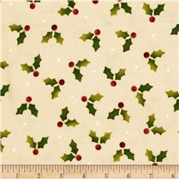 Crazy for Christmas Flannel Holly Cream