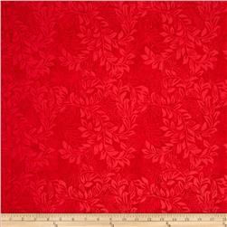 Tonga Batik Rising Sun Bean Stalk Red