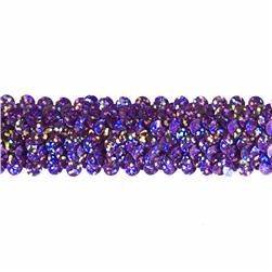 "1 1/4"" Stretch Starlight Sequin Trim Lavender"