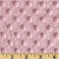 Minky Cuddle Dimple Dot Baby Pink Fabric