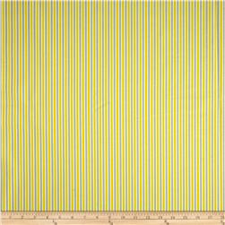 Stretch Twill Stripes Yellow/Grey Fabric