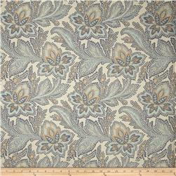 French General Jacobean Floral Jacquard Bleu