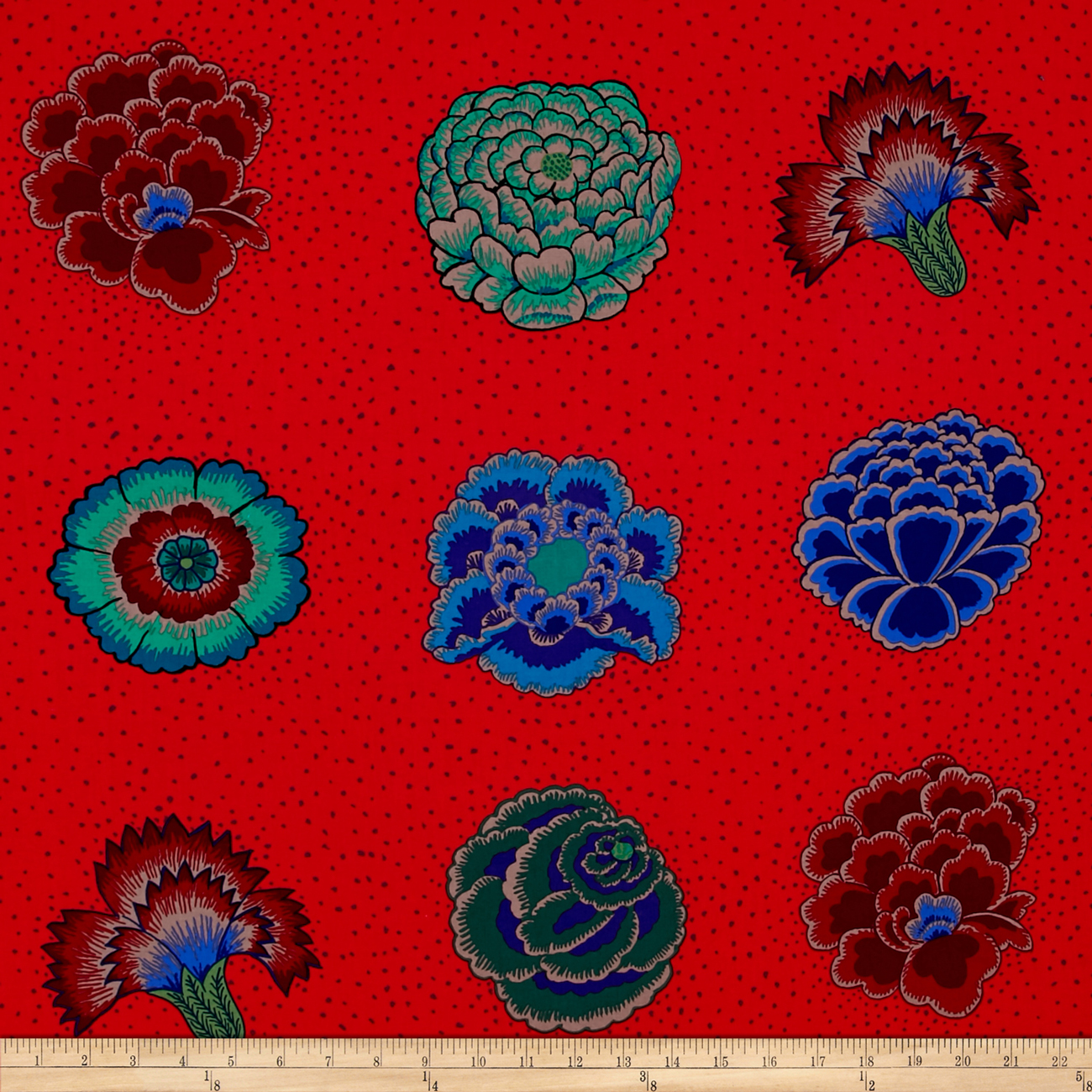 Kaffe Fassett Corsage Scarlet Fabric by Westminster in USA
