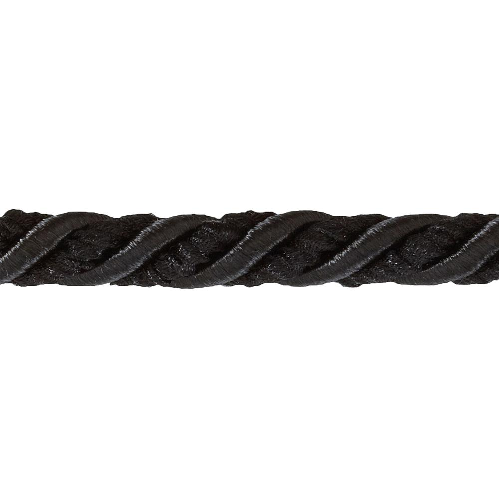 "Shanae 3/8"" Twisted Cord Trim Black"