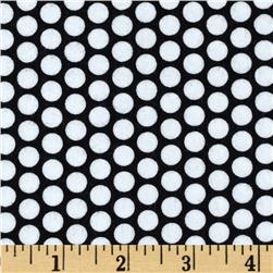 Riley Blake Flannel Honeycomb Dot Black Fabric