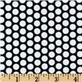 Riley Blake Flannel Honeycomb Dot Black
