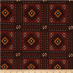 Southwest Village Flannel Brown/Brick