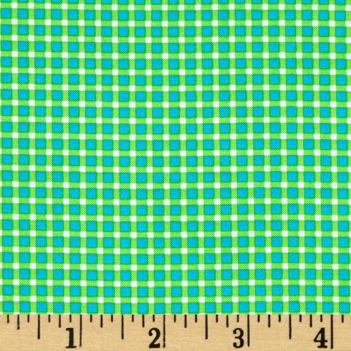 Michael Miller Cute Zoo Plaid Green