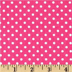 Premier Prints Dottie Candy Pink/White Fabric
