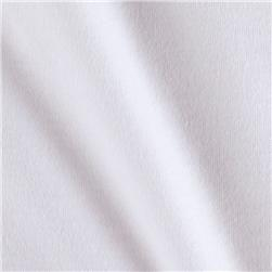 Organic Cotton Interlock Knit Optic White