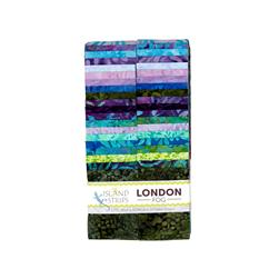 "Island Batik London Fog 2.5"" Strip Pack"
