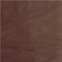 54'' Wide Tulle Brown Fabric