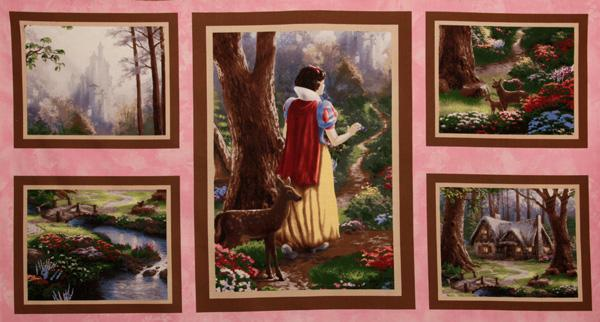Snow White Discovers The Cottage Panel Multi